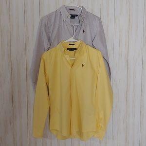 Ralph Lauren slim fit button down shirts
